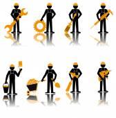 Builder set Construction worker