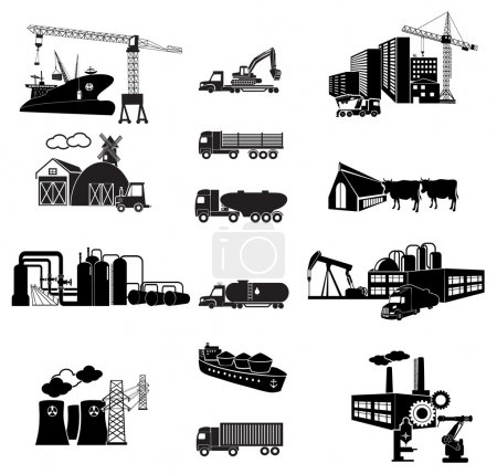 Photo for Industrial building factory and power plants icon set. Transport. Vector illustration - Royalty Free Image