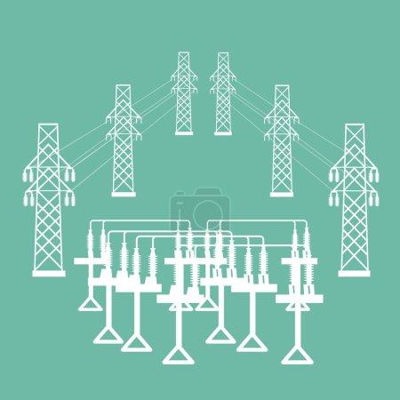 electric transformer substation.