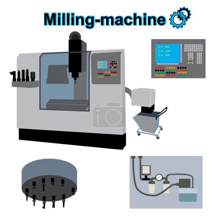 milling machine icon.