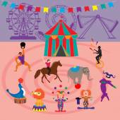 Amusement Park and circus icons