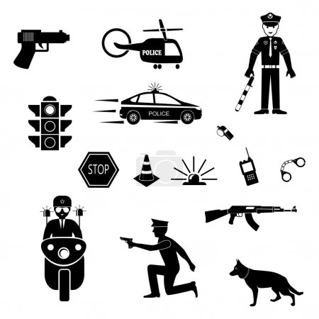 criminal and police icons set
