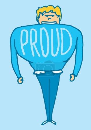 Man very proud of himself