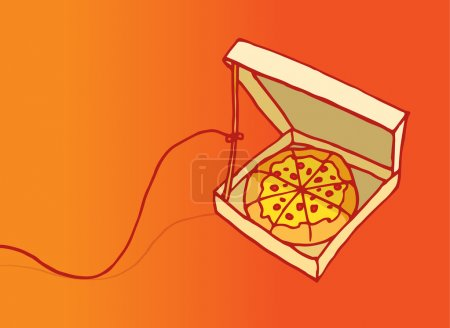 Funny pizza trap or danger on diet