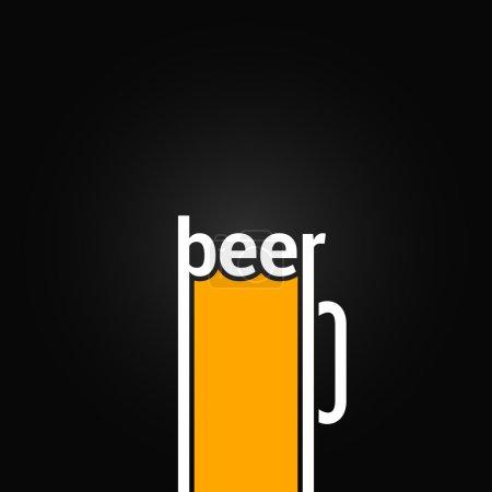 beer glass mug design background