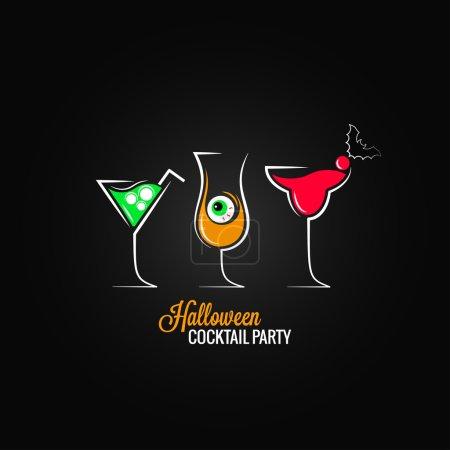 Photo pour Halloween fête cocktails menu fond design 8 eps - image libre de droit