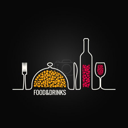 Illustration for Food and drink menu background 8 eps - Royalty Free Image