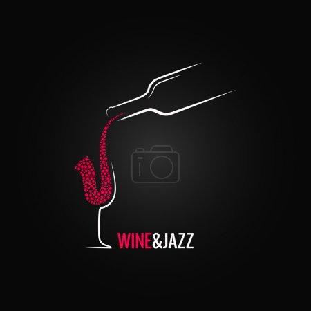 Photo pour Vin et jazz concept design fond 8 eps - image libre de droit