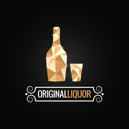 liquor store poly design background