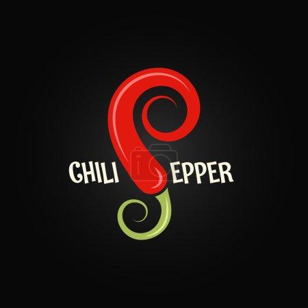 Photo pour Chili poivre légume design fond 8 eps - image libre de droit