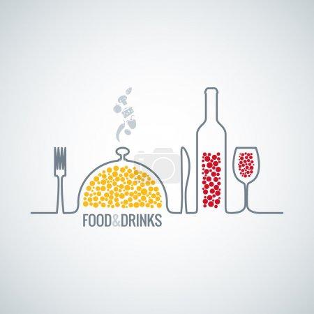 Photo pour Nourriture et boissons restaurant fond 8 eps - image libre de droit