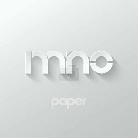 Illustration pour Lettre M N O logo alphabet icône papier ensemble fond 10 eps - image libre de droit