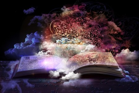 Open magic book, stories and educational stories f...