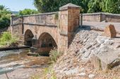 Historic old bridge over the Lourens River