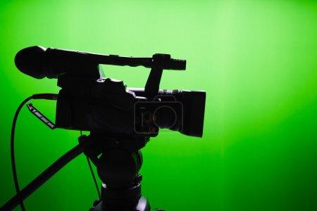 TV studio with green screen