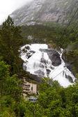 Krajina v Husedalen poblíž Hardangerfjord v Norsku