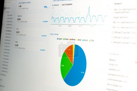 Close-up of web analytics dashboard