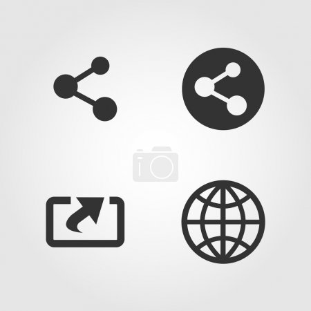 Share icons set, flat design