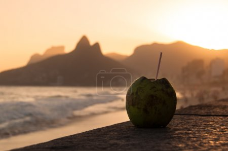 Coconut Drink in Ipanema Beach