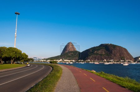 Sugarloaf mountain and bicycle and pedestrian paths