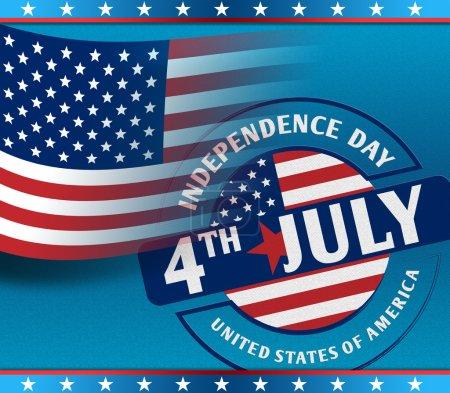 Photo pour 4 juillet Fête de l'indépendance américaine comme concept - image libre de droit