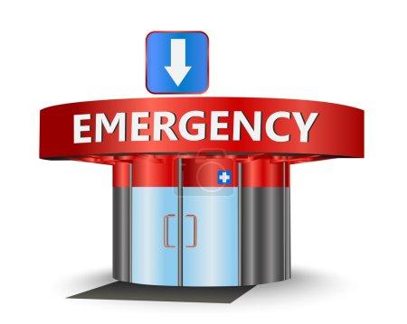Illustration pour Bâtiment d'urgence comme symbole conceptuel - image libre de droit