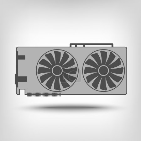 Graphic card icon as a concept...