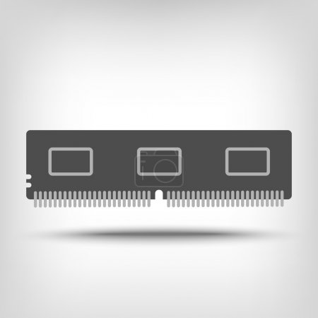 Illustration for Random access memory icon as a concept - Royalty Free Image