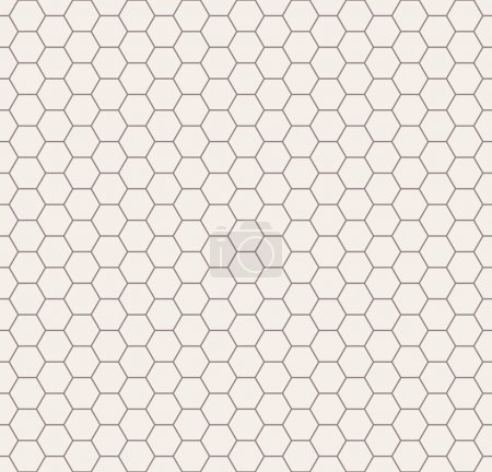 Illustration for Vector seamless pattern. Modern stylish texture. Repeating geometric background with hexagons - Royalty Free Image