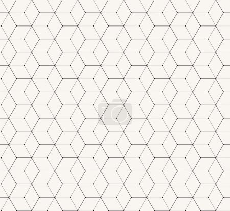Illustration for Hexagons gray vector simple seamless pattern background - Royalty Free Image