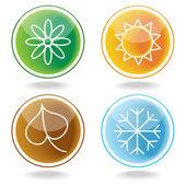Set of four seasons icons