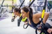 Women training arms