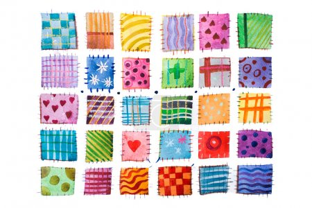 Set of colorful prints
