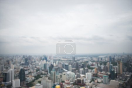 Photo for Panoramic aerial view big city town blurred background - Royalty Free Image