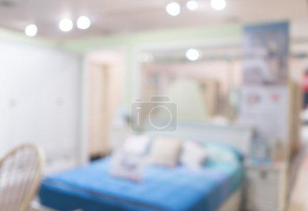 Abstract defocused blurred background blur image of bedroom living room