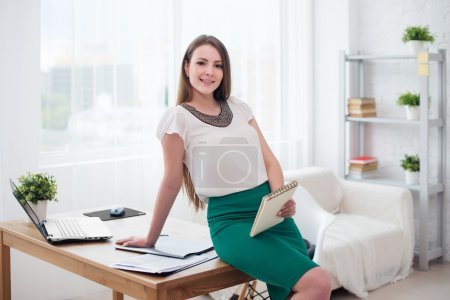 Portait of beautiful successful business woman