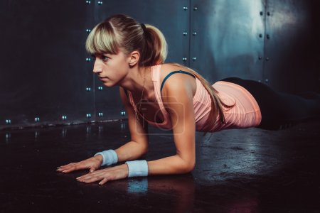 Slim fitness young woman