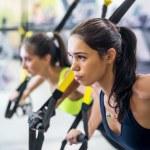 Fitness trx suspension straps training exercises w...