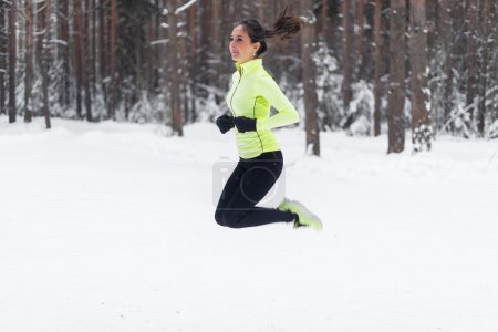 Athlete running fit woman