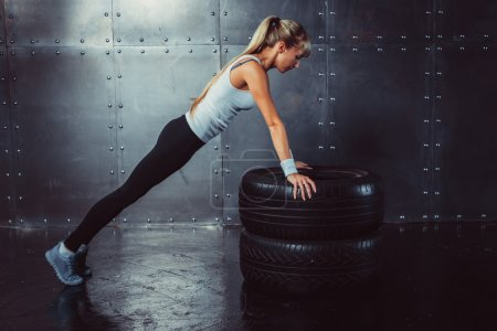 Sportswoman. Fit sporty athlete woman  female