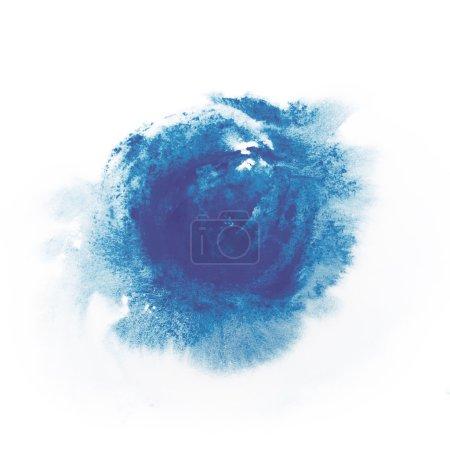 Blue paint watercolor aquarelle