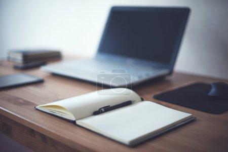 Stylish freelancer workspace