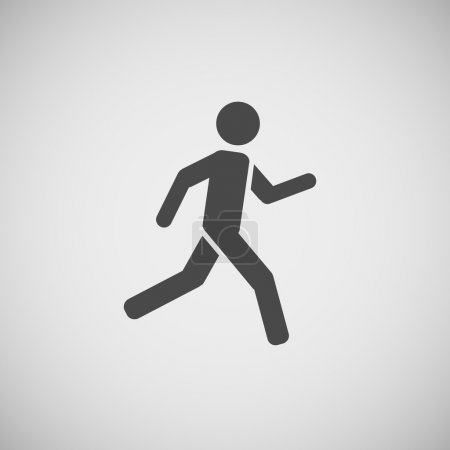 running walking going man vector eps10 illustration
