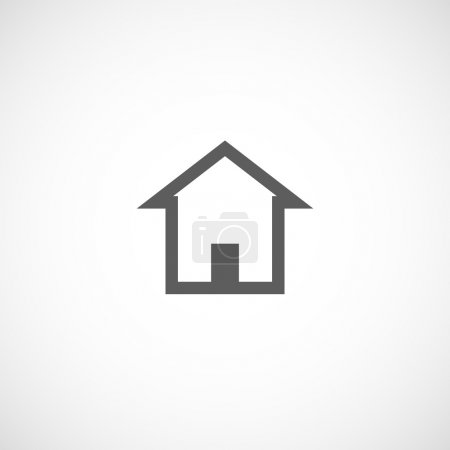 House building abstract real estate icon logo design