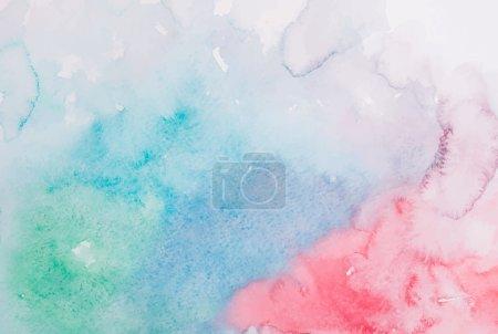 Illustration pour Abstrait coloré main dessiner aquarelle aquarelle arrière-plan illustration vectorielle - image libre de droit
