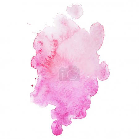 Abstract watercolor aquarelle hand drawn colorful drop splatter stain art paint on white background Vector illustration