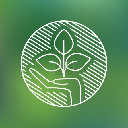 Illustration for Sign of environmental protection, web icon. vector design - Royalty Free Image