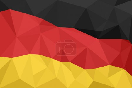 Abstract creative triangle geometrical mosaic Germany flag