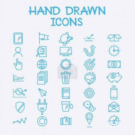 Hand drawn line icons