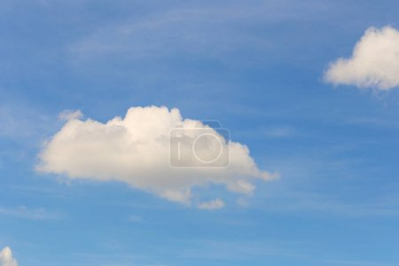 Photo for Blue sky with white clouds in the daytime background for design in you work idea concept. - Royalty Free Image